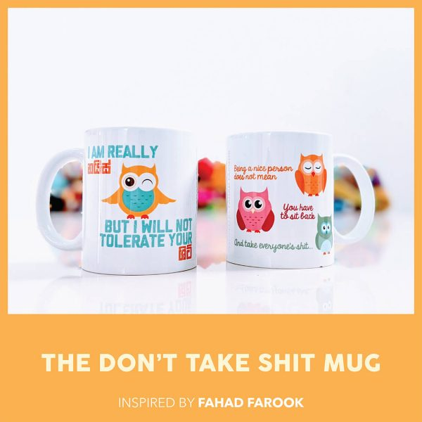 THE DON'T TAKE SHIT MUG