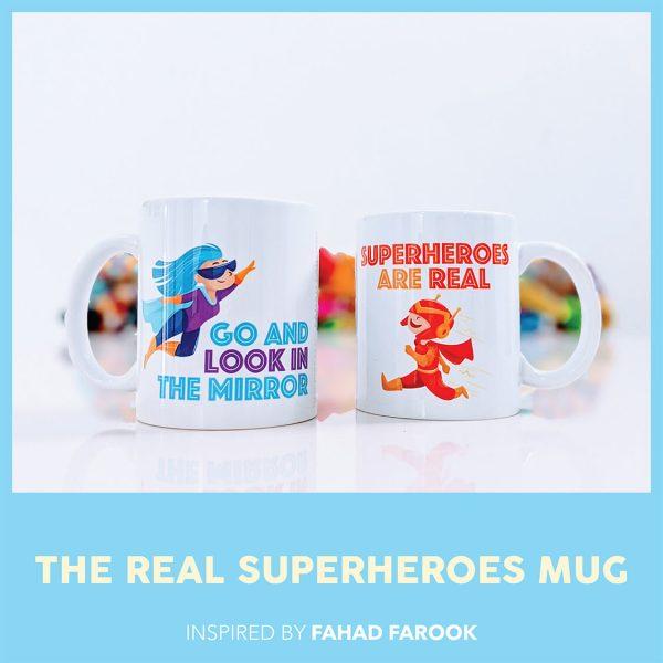 THE REAL SUPERHEROES MUG